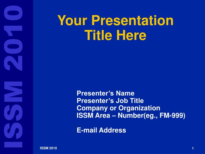 Your presentation title here