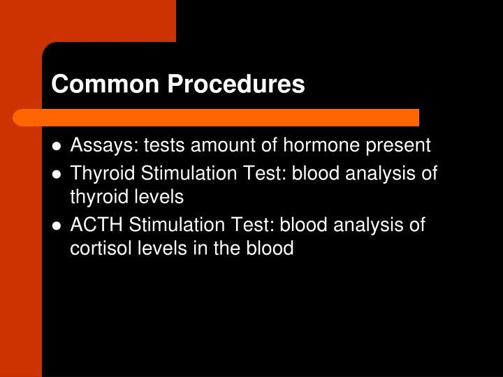 Common Procedures