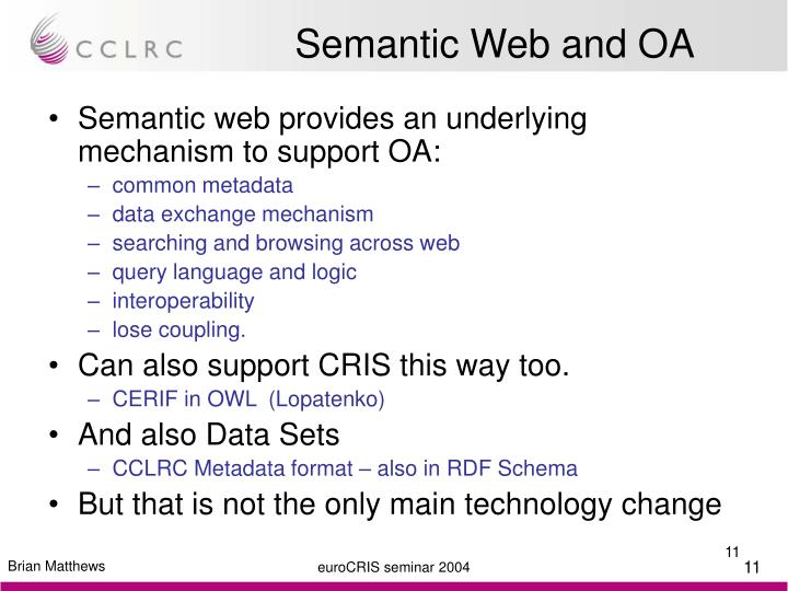 Semantic Web and OA