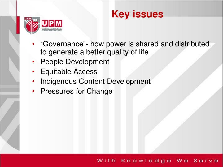 """Governance""- how power is shared and distributed to generate a better quality of life"
