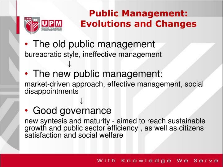 The old public management