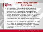 sustainability and good governance1