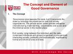 the concept and element of good governance