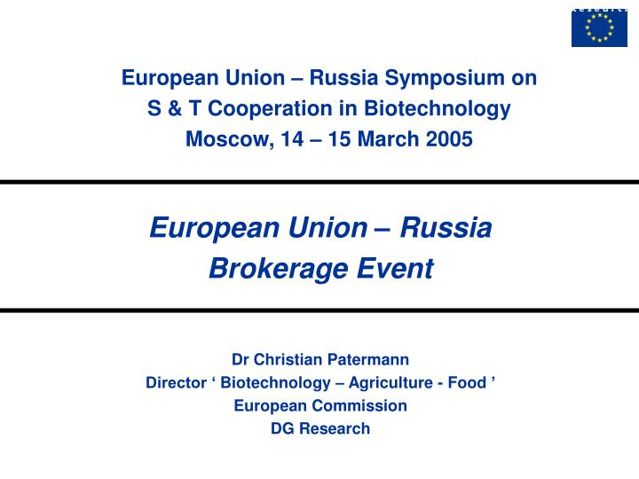 European Union – Russia Symposium on