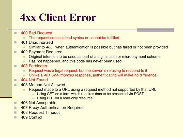 4xx Client Error