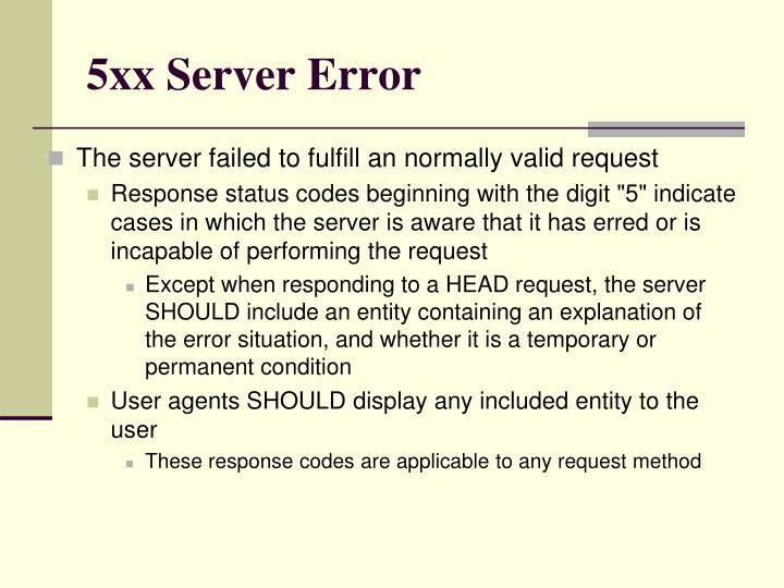 5xx Server Error