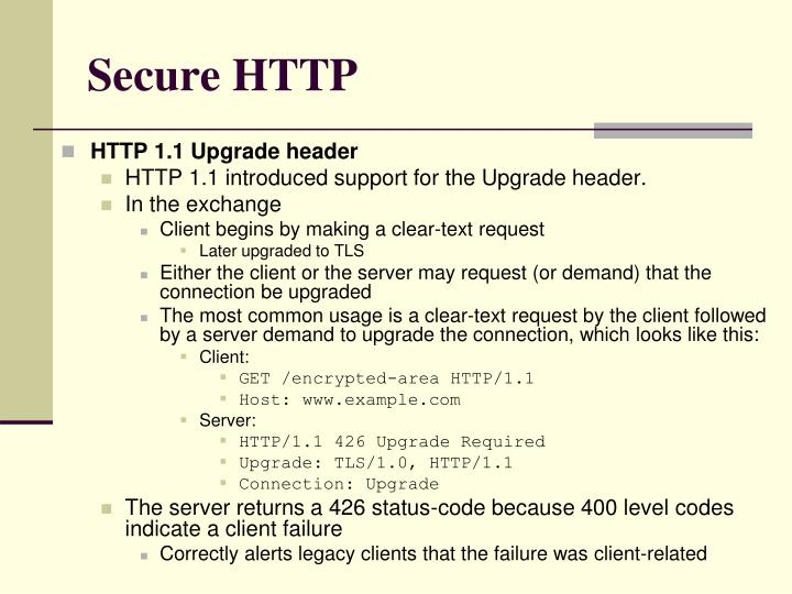 Secure HTTP