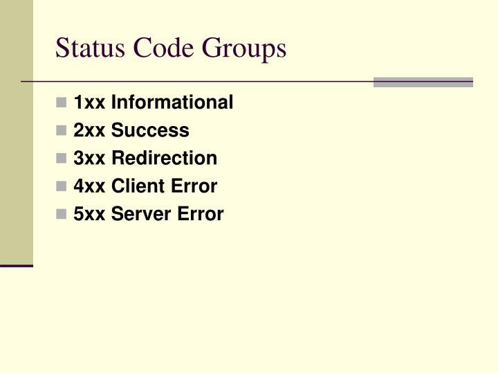 Status Code Groups