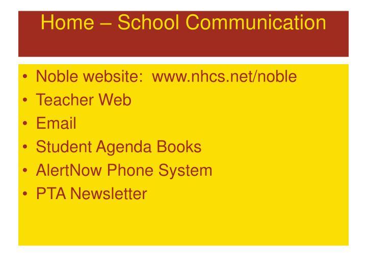 Home – School Communication