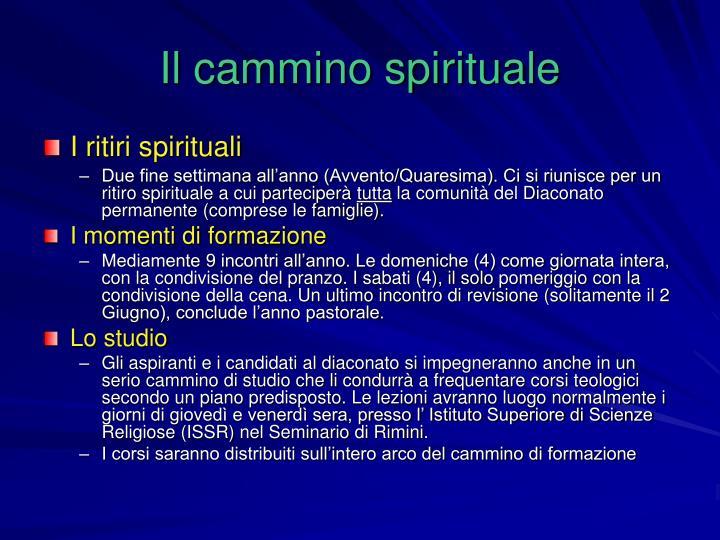 Il cammino spirituale