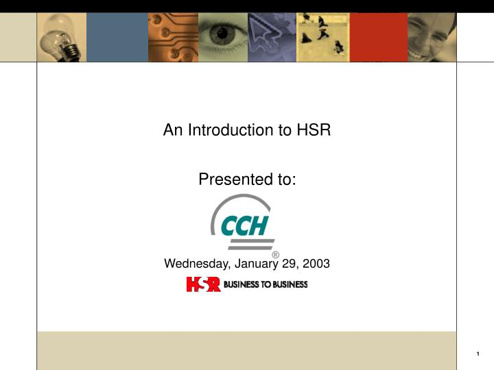 An Introduction to HSR
