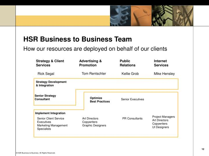 HSR Business to Business Team