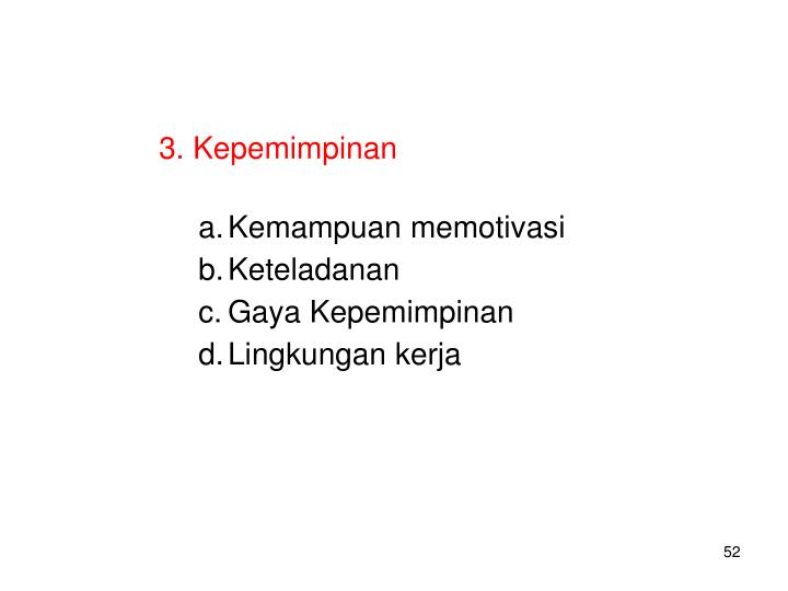 3. Kepemimpinan