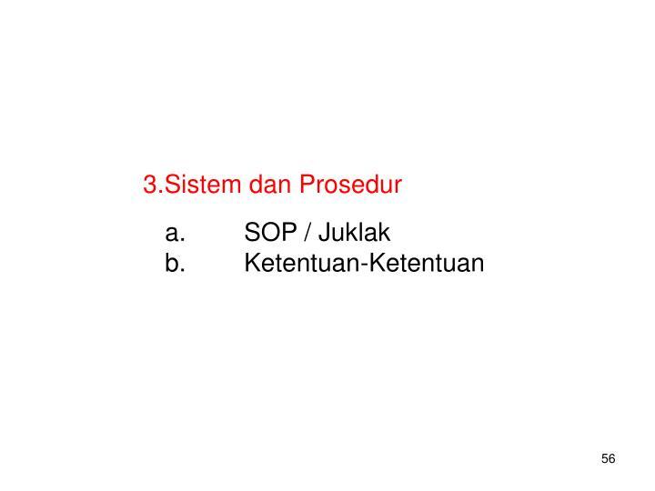 Sistem dan Prosedur