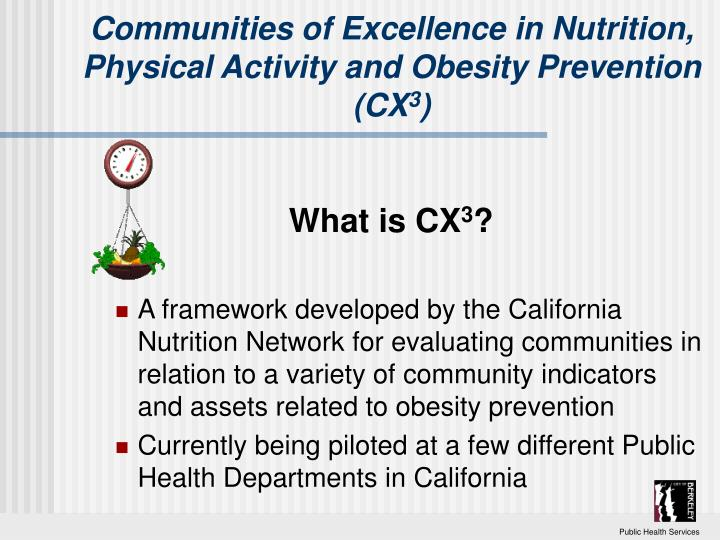 Communities of Excellence in Nutrition, Physical Activity and Obesity Prevention (CX