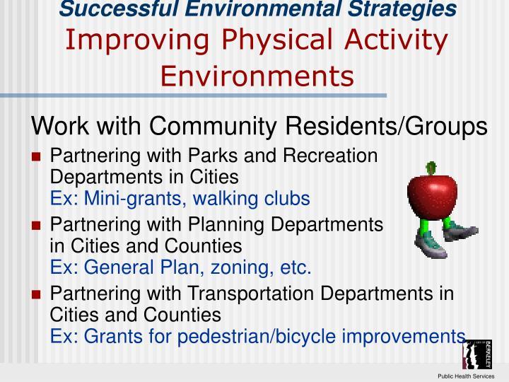 Successful Environmental Strategies