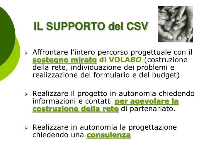 IL SUPPORTO del CSV