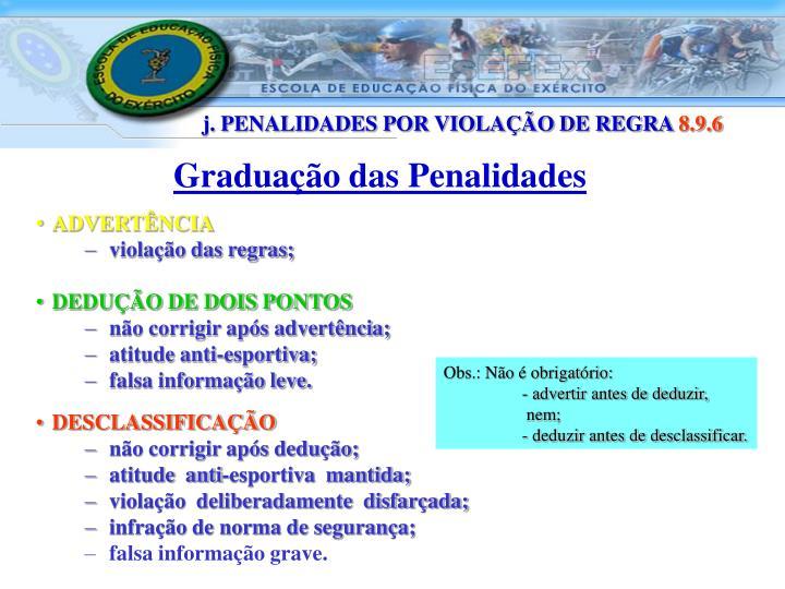 Graduação das Penalidades