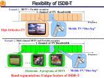 flexibility of isdb t