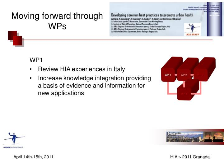 Moving forward through WPs