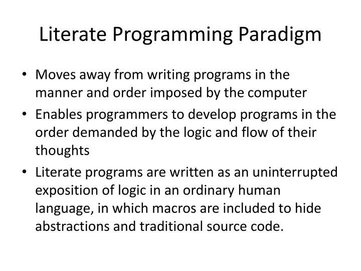 Literate Programming Paradigm