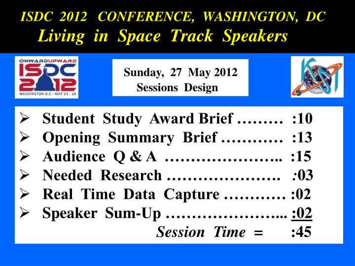 ISDC  2012   CONFERENCE,  WASHINGTON,  DC