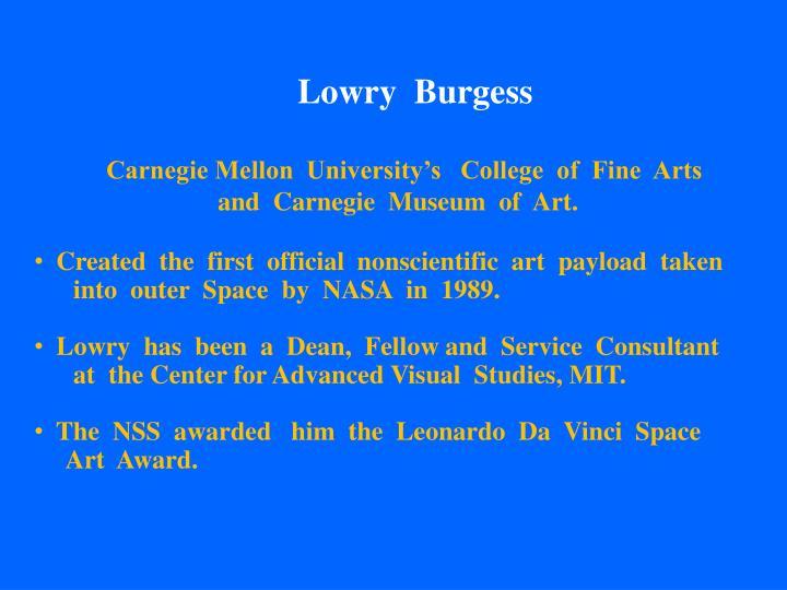 Lowry  Burgess