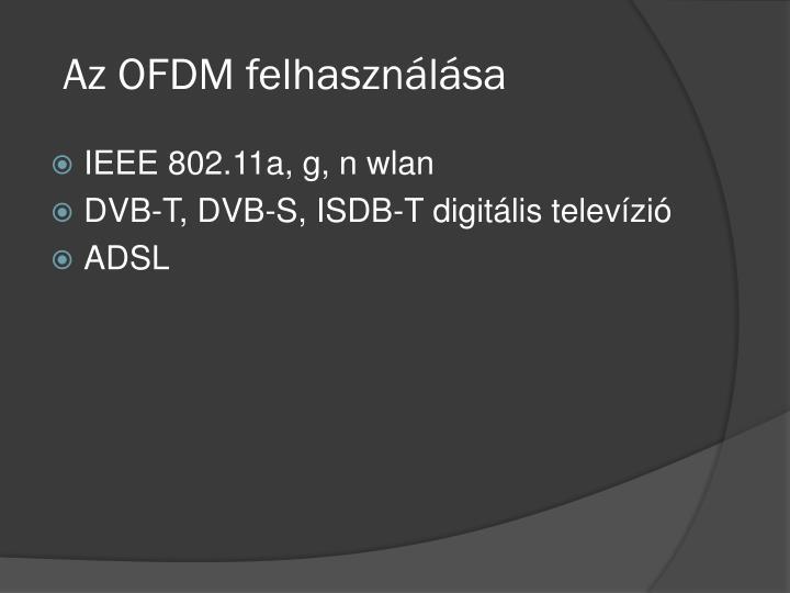 Az OFDM felhasználása