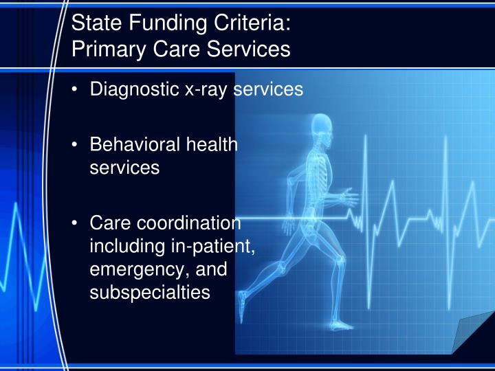 State Funding Criteria: