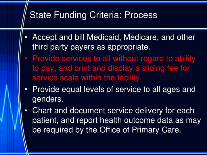 State Funding Criteria: Process
