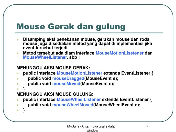 Mouse Gerak dan gulung