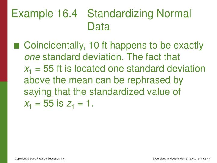 Example 16.4Standardizing Normal Data