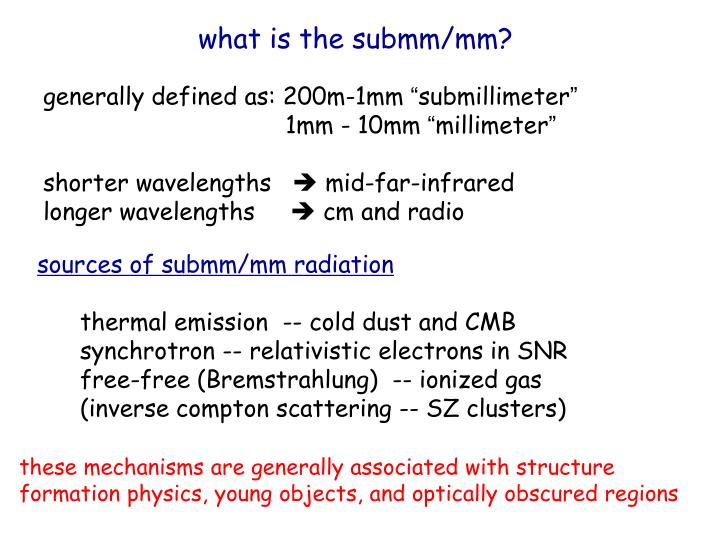 what is the submm/mm?