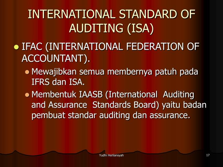 INTERNATIONAL STANDARD OF AUDITING (ISA)