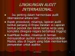 lingkungan audit internasional