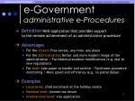 e government administrative e procedures