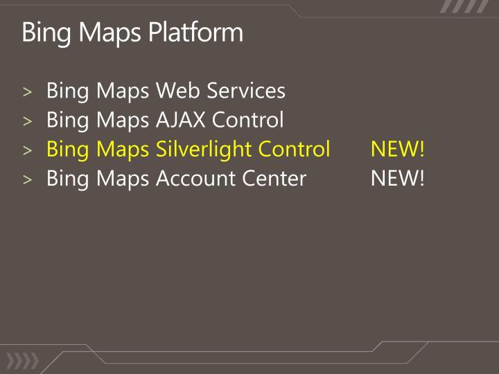 Bing Maps Platform
