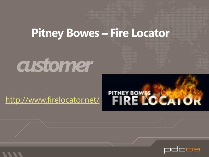 Pitney Bowes – Fire Locator