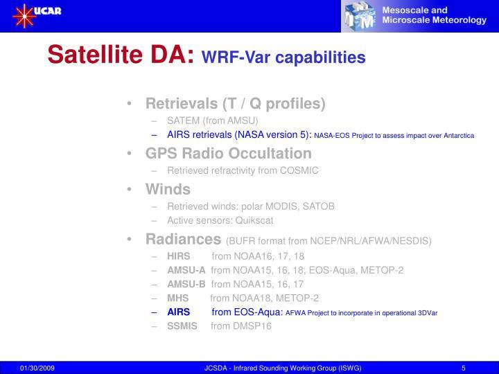 Satellite DA: