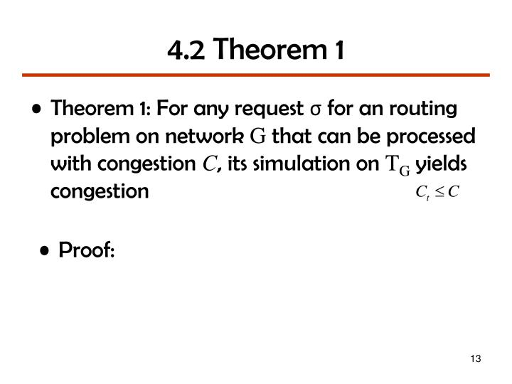 4.2 Theorem 1