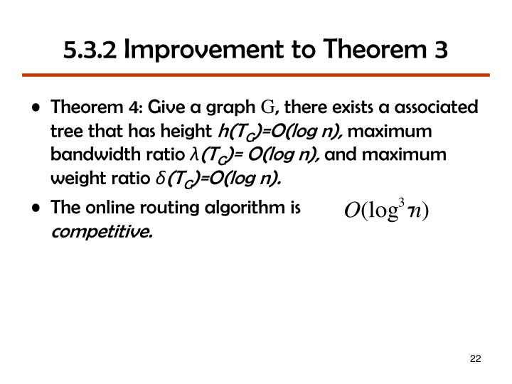 5.3.2 Improvement to Theorem 3
