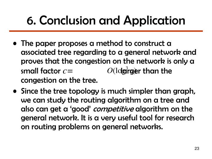 6. Conclusion and Application