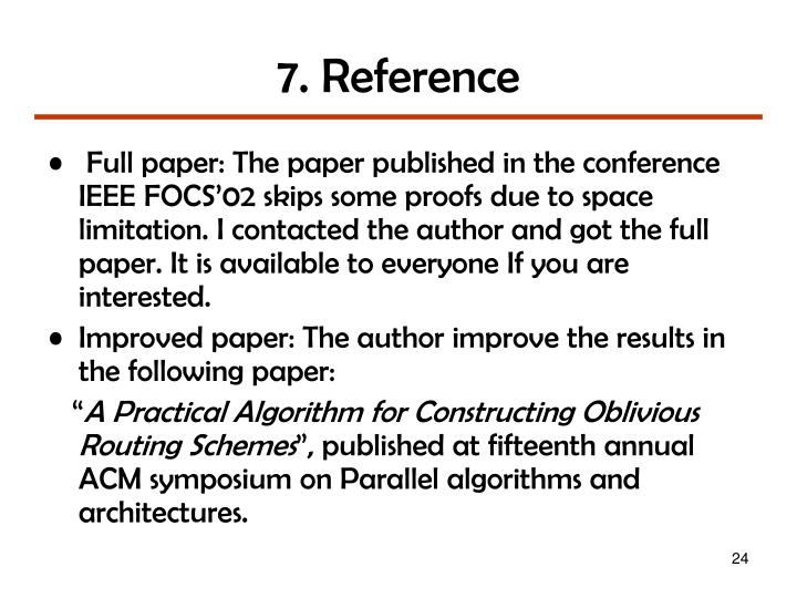7. Reference
