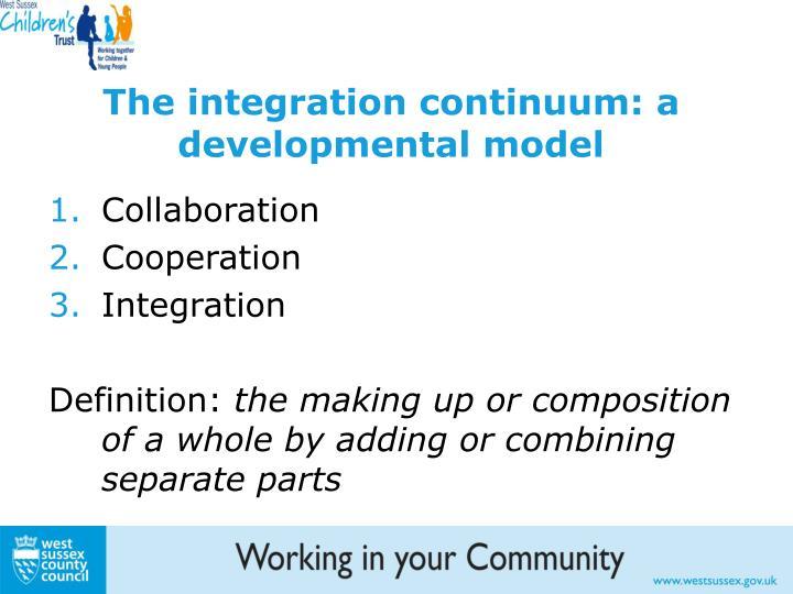 The integration continuum: a developmental model