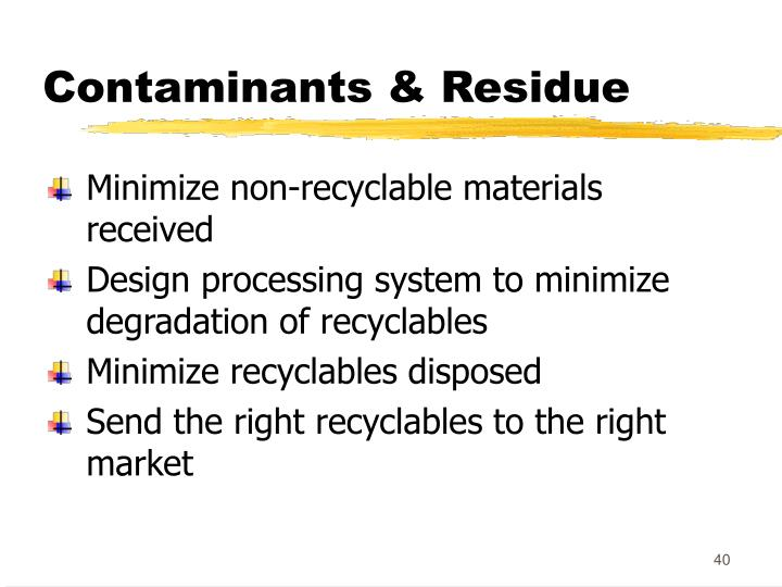 Contaminants & Residue