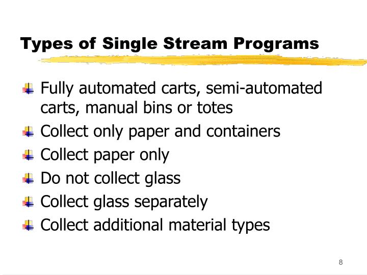 Types of Single Stream Programs