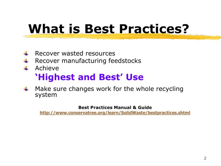 What is Best Practices?