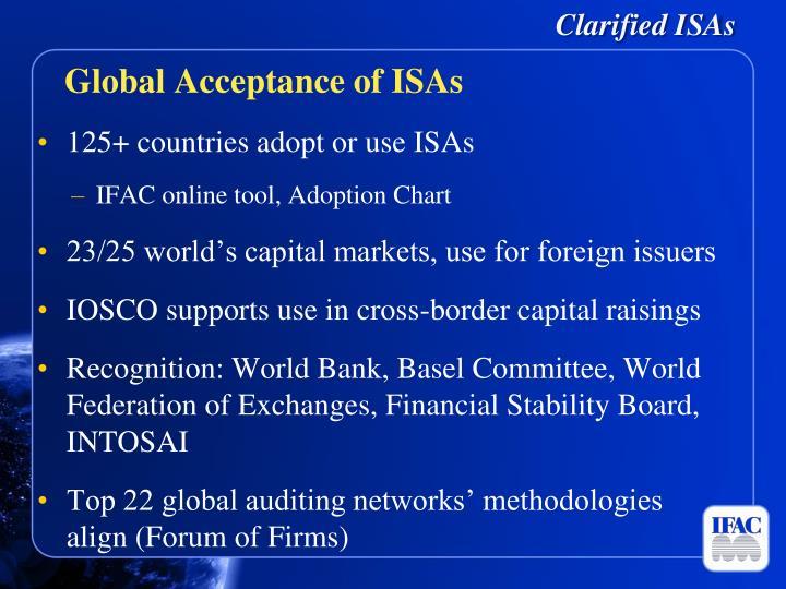 Clarified ISAs
