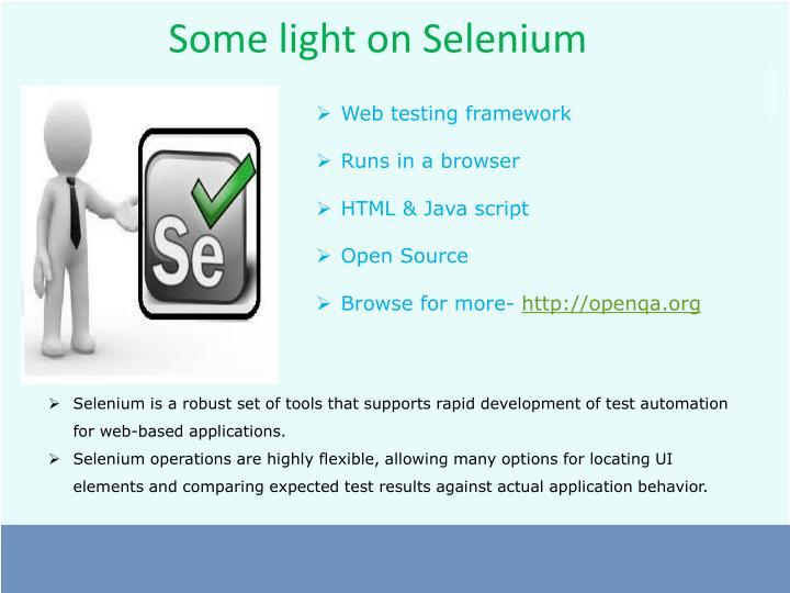 Some light on Selenium