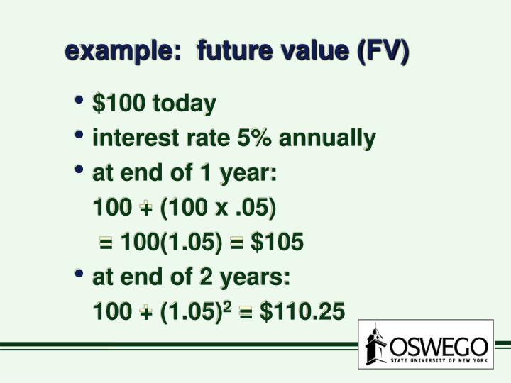 Example future value fv
